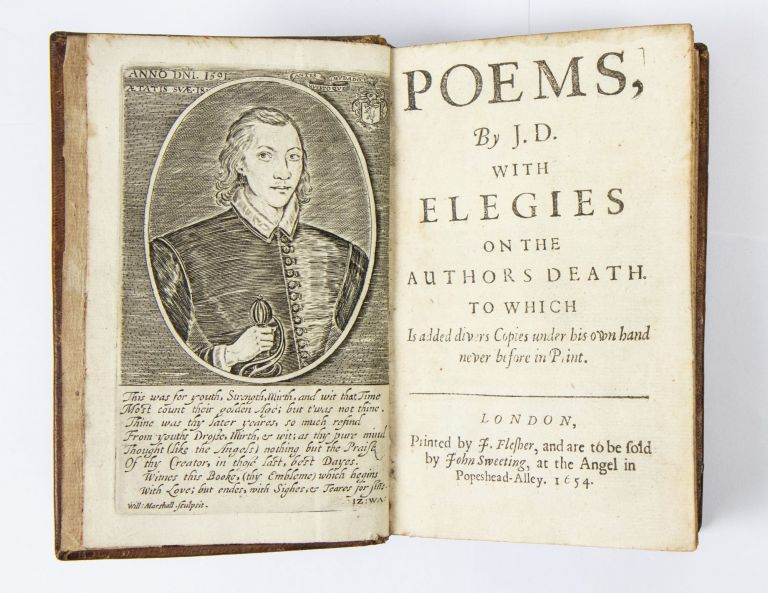 Poems, by J.D. With elegies on the authors death. To which is added divers copies under his own...