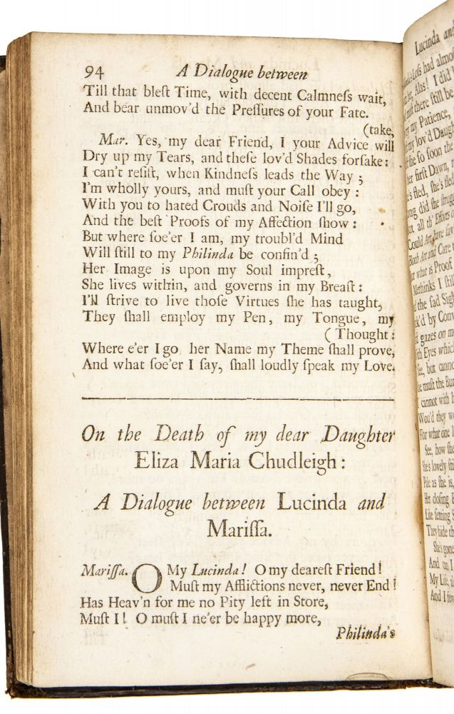 Poems on several occasions. Together with The song of the three children paraphras'd. By the Lady Chudleigh