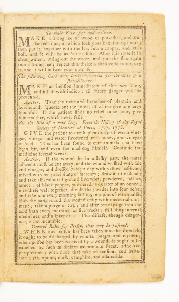The New-England Almanack, or, Lady's and Gentleman's Diary, for the Year of our Lord Christ 1787: Being the Third after Bissextile, or Leaf-Year, and the Eleventh of American Independence, which commenced July 4, 1776… Calculated for the meridian of Providence.