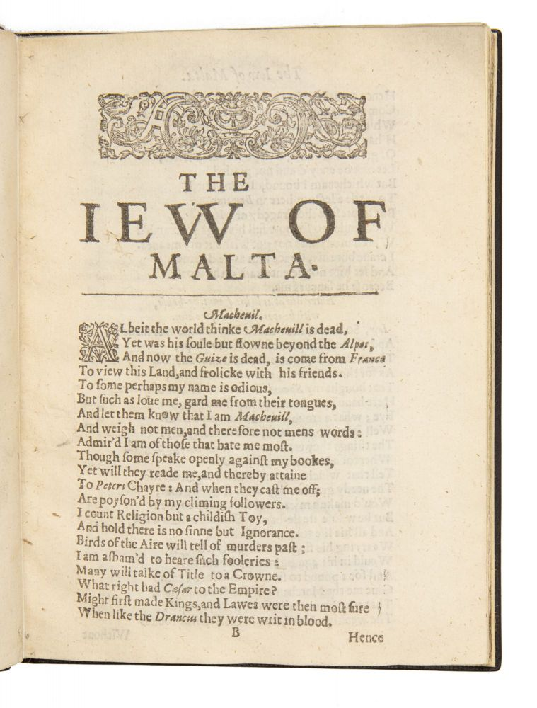 The Famous Tragedy of the Rich Jew [Ievv] of Malta.