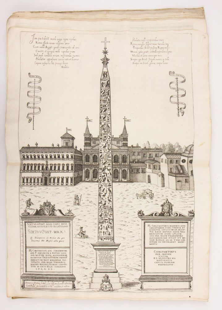 """""""Speculum Romanae Magnificentiae"""": A bespoke album of 43 plates, compiled and bound ca. 1675. Nicolas ROME. Beatrizet, Étienne Dupérac, Ambrogio Brambilla, artists, active."""
