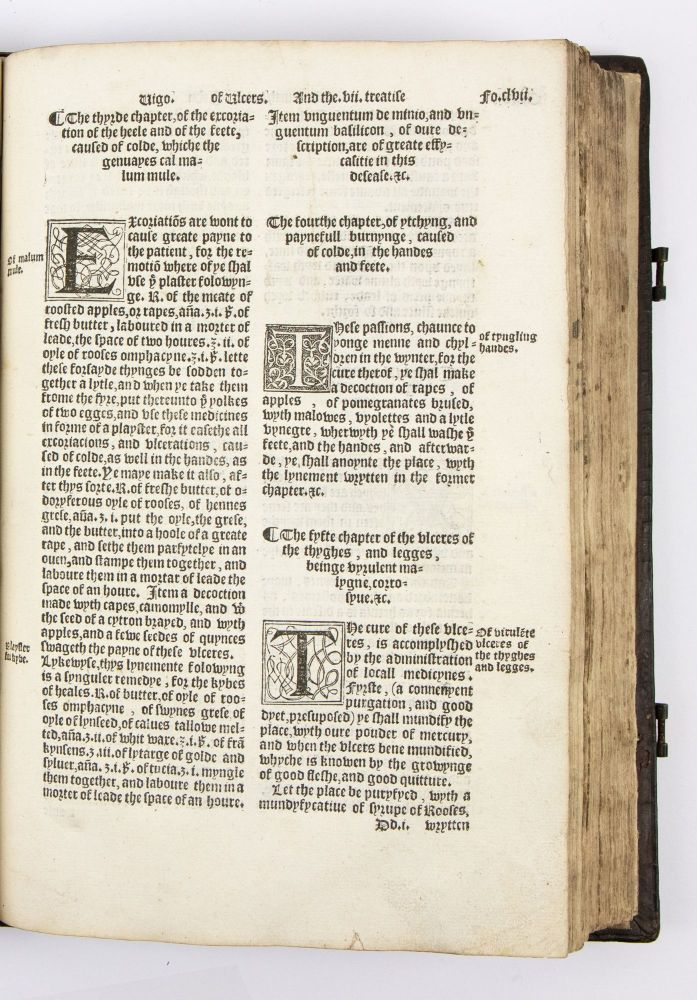 The most excelent worckes of chirurgery, made and set forth by maister Iohn Vigon, head chirurgien of oure tyme in Italy, traunslated into Englishe. Wherunto is added an exposition of straunge termes and vnknowen symples, belongynge vnto the arte.