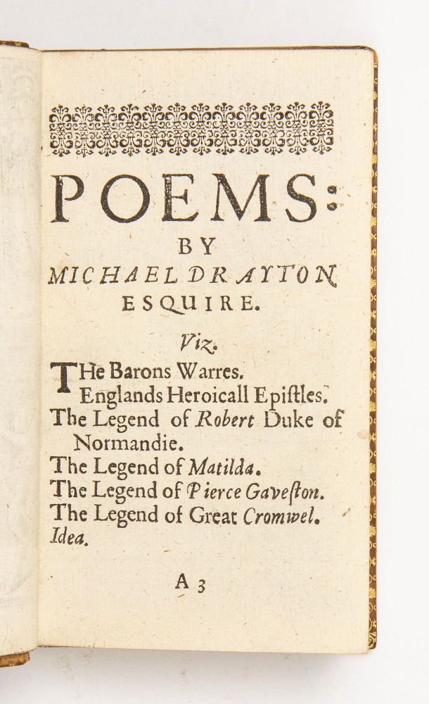 Poems by Michael Drayto[n] Esquyer. Collected into one volume. Newly corrected M.DC.XXXVII.