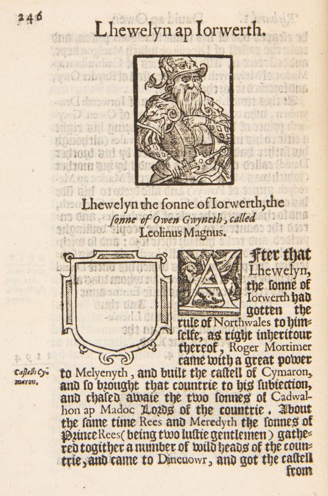 The Historie of Cambria, now called Wales: A part of the most famous Yland of Brytaine, written in the Brytish language aboue two hundreth yeares past: translated into English by H. Lhoyd Gentleman: Corrected, augmented, and continued out of Records and best approoued Authors, by David Powel.